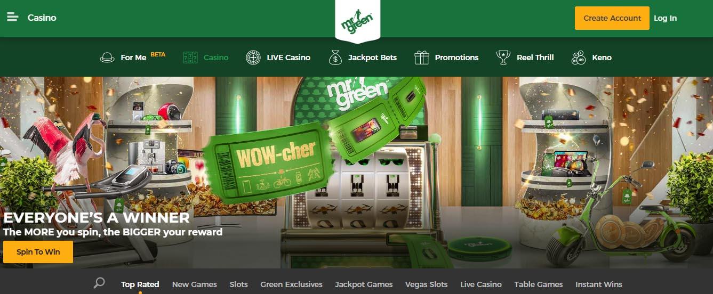 Mr Green  - Официальный сайт